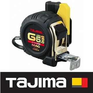 日本 田島Tajima 包膠捲尺5.5米 x 25mm/ 公分(附安全扣/磁鐵) SFGLM25-55BL
